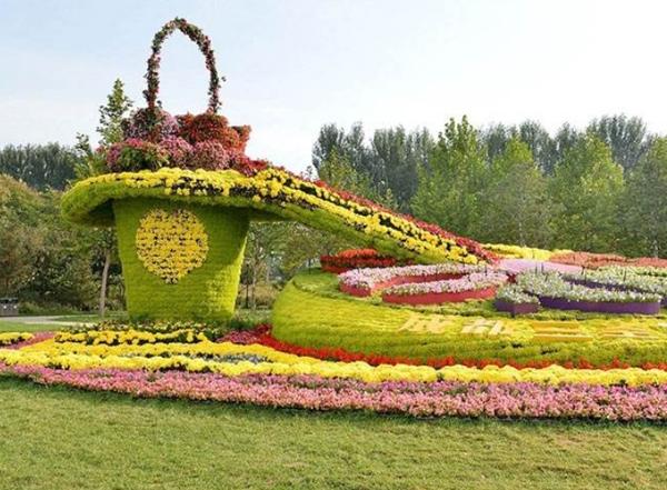 公园五色草立体花坛造型设计